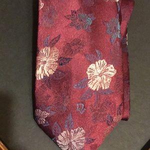 Christian Dior floral silk tie